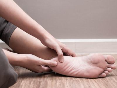 Fersensporn Fuß