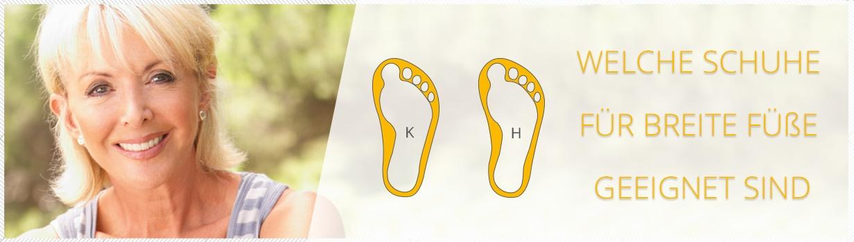 ▷ Welche Schuhe für breite Füße? Jetzt informieren
