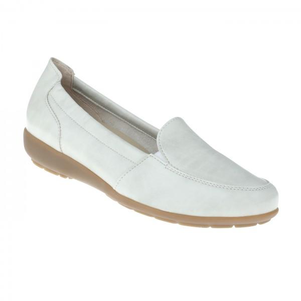 tessamino | Damen Mokassin Otava | Sola-Stretch in Leder Optik | Weite H | herausnehmbares Memo-Latex Fußbett