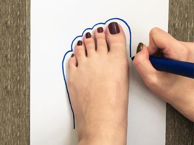 Füße richtig messen