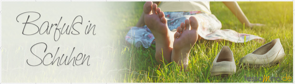 barfuß in Schuhen