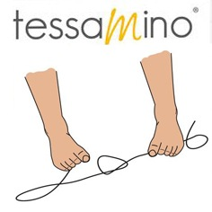 Fußgymnastik Spreizfuß Übung Seil verknoten