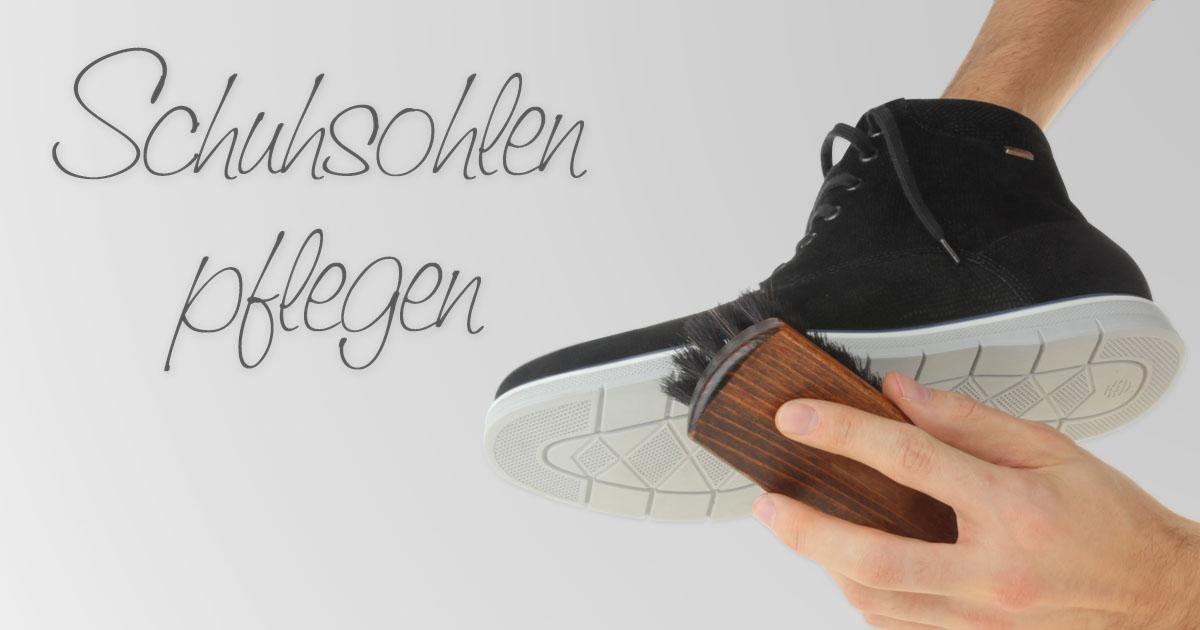 Schuhsohlen pflegen