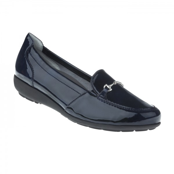 tessamino | Damen  | Sola-Stretch in Lack Optik | Weite H | herausnehmbares Memo-Latex Fußbett